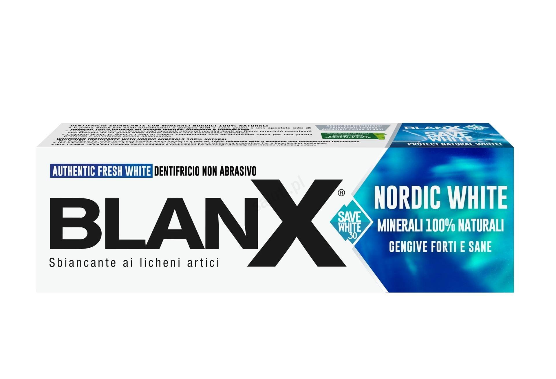 Blanx Nordic White - Wybielająca pasta do zębów 75 ml