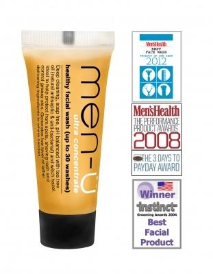 men-u Męski antybakteryjny żel do mycia twarzy 15ml Produkt Roku Men's Health