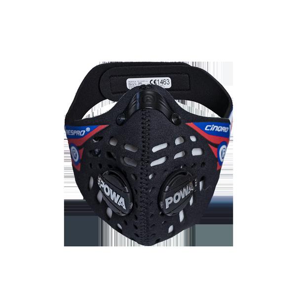 RESPRO Cinqro Black M - sportowa maska antysmogowa PM2.5 PM10