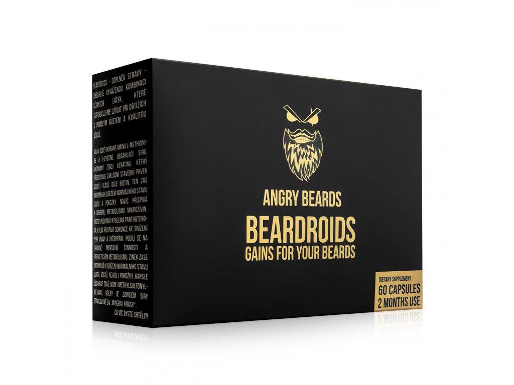 Angry Beards Beardroids - witaminy na porost brody 60 kaps.