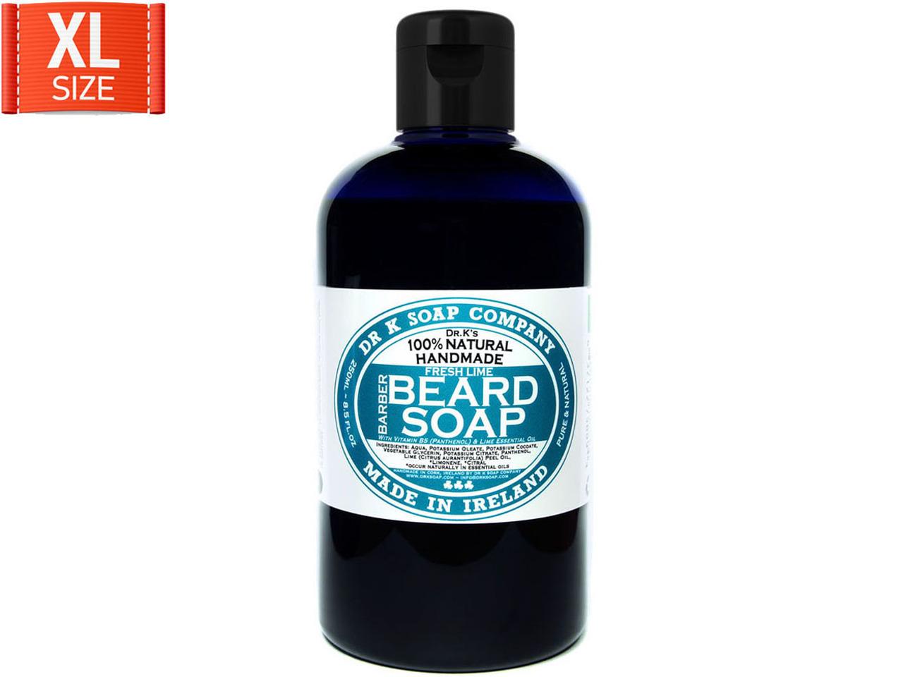 Dr K Soap Duży męski szampon do brody limonka 250ml