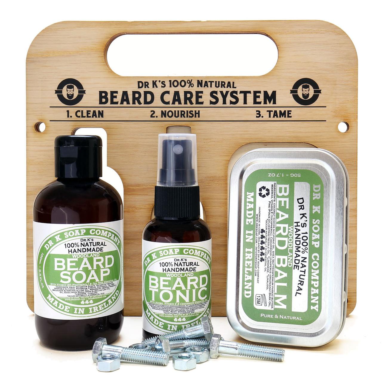 Dr K Soap Beard Care System Cool Mint - zestaw do brody  (1)
