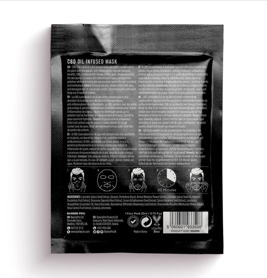 BARBER PRO Foaming Cleansing Mask - piankowa maska oczyszczająca z węglem aktywowanym 10 ml (1)