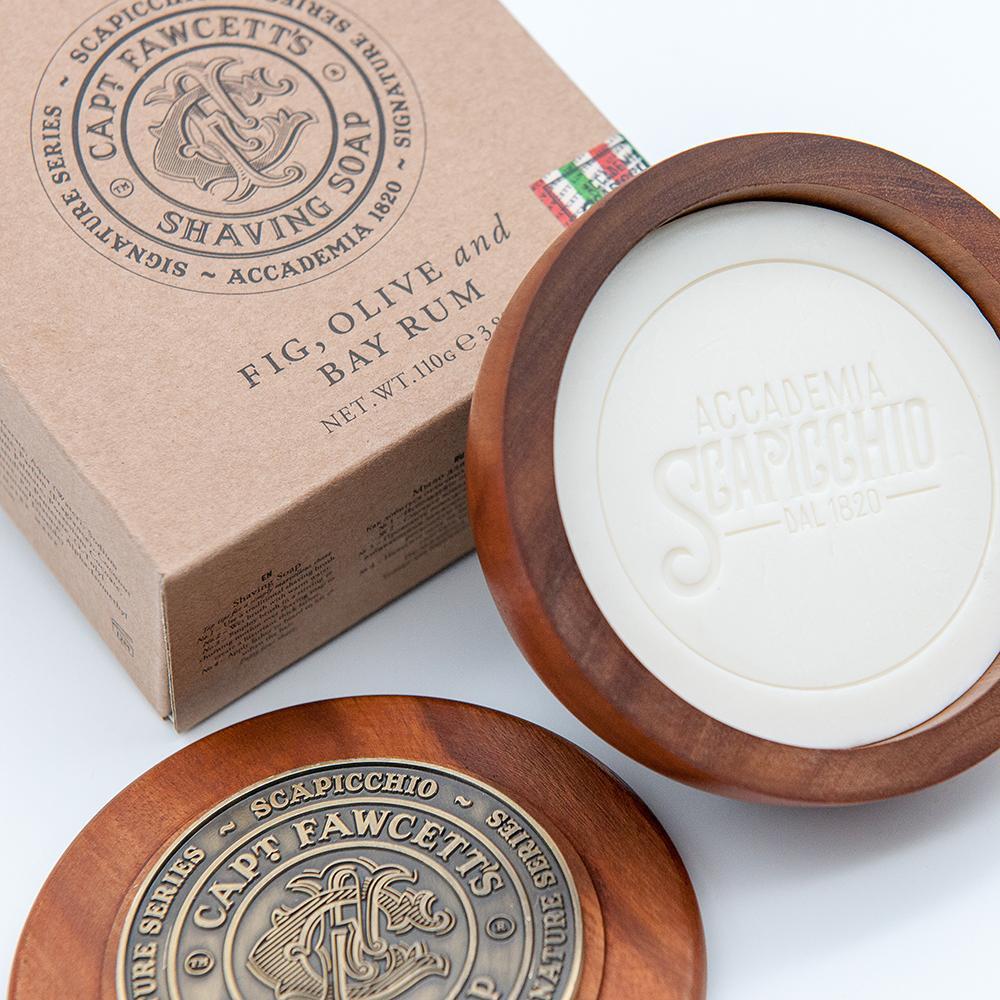 Captain Fawcett Scapicchio - mydło do golenia w drewnianym tyglu 110g