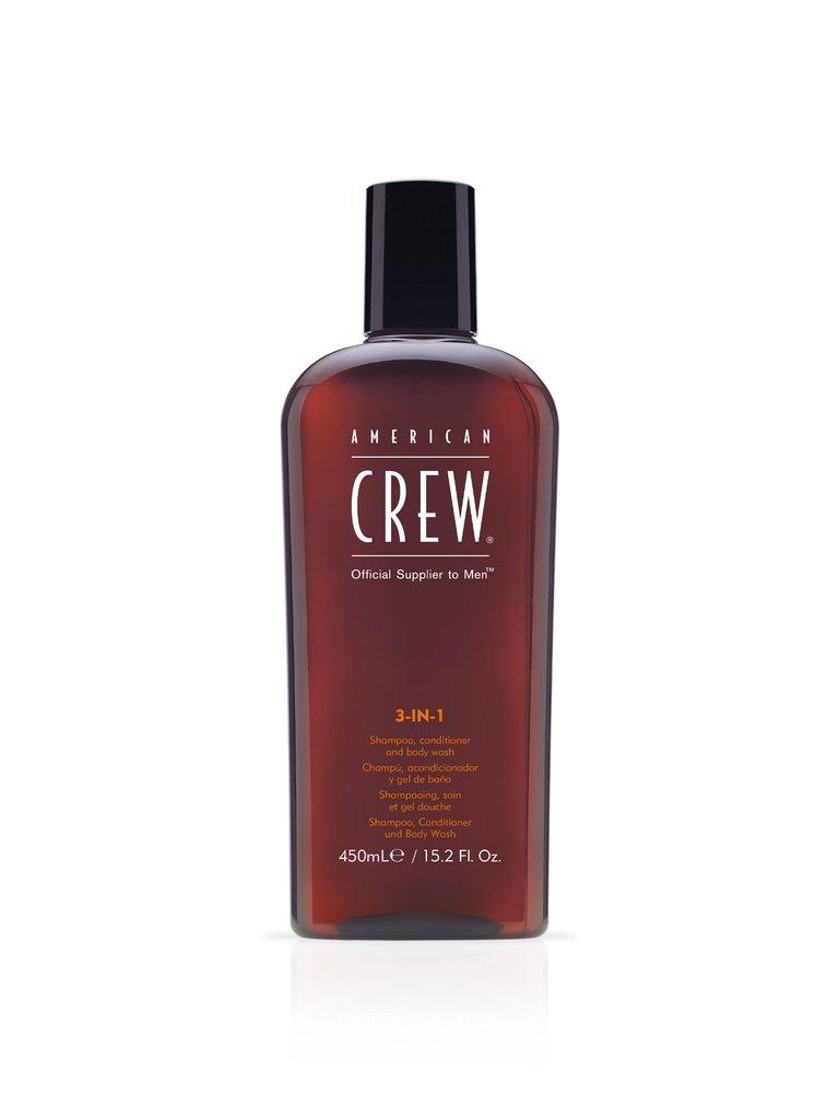 American Crew Classic - 3w1 męski szampon żel pod prysznic i odżywka w jednym 450 ml