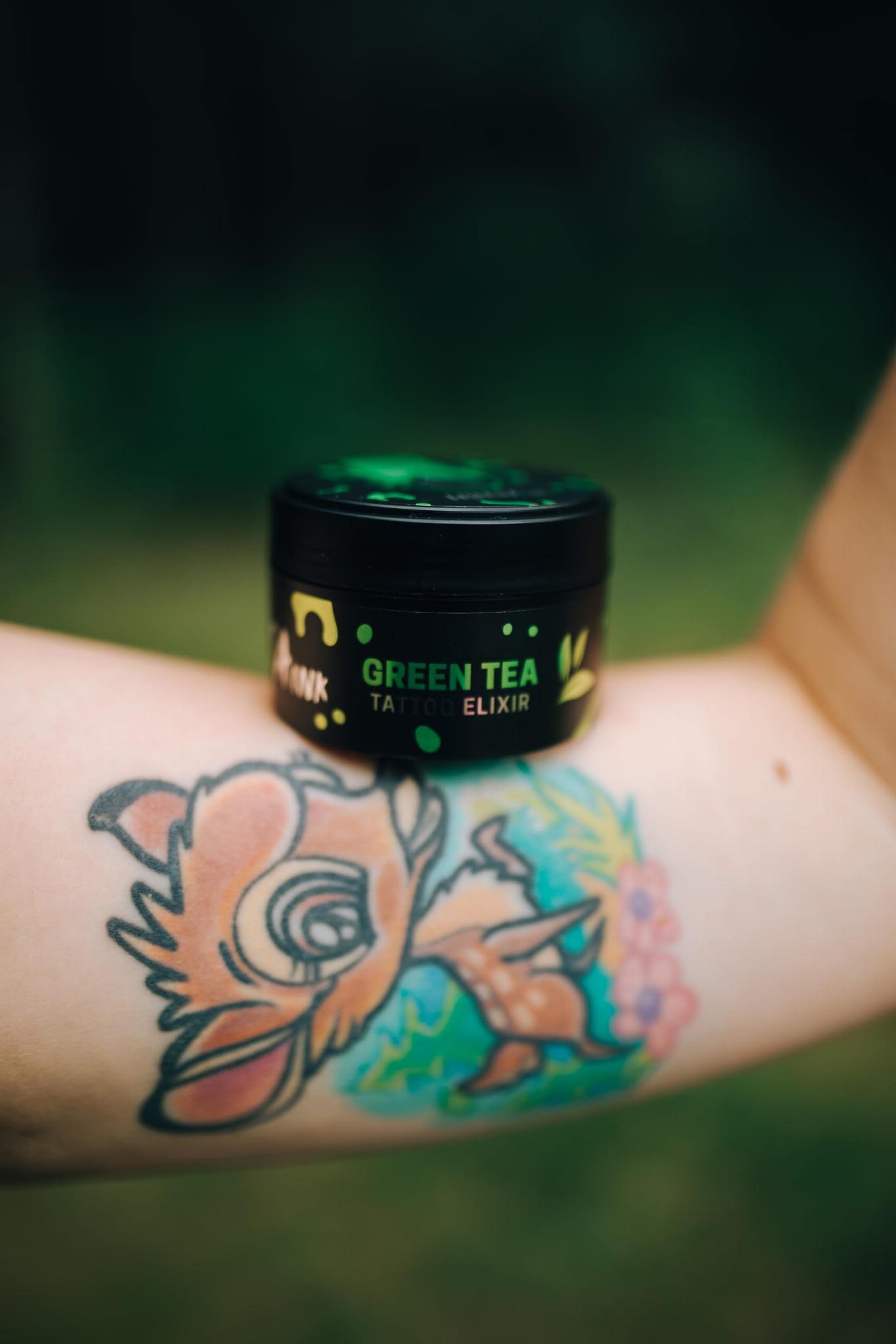 Ninja Ink Tattoo Elixir Green Tea - krem do pielęgnacji tatuażu Zielona Herbata 50 ml (1)