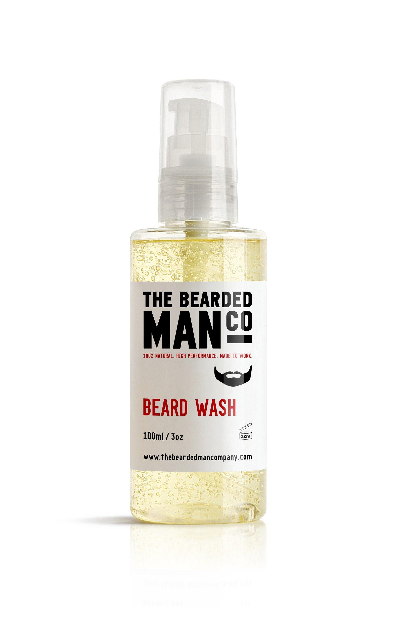 Bearded Man Co - Odżywczy szampon nawilżający do brody i wąsów 100ml + Naprawcza odżywka do brody w 60 sekund 50ml