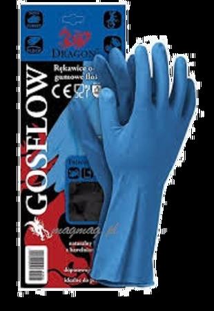 Menspace ochronne rękawiczki gumowe flokowane para rozmiar M