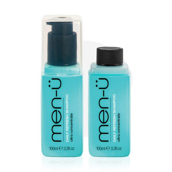 men-u refill kit - męski codzienny szampon nawilżający do włosów zestaw 2x100 ml