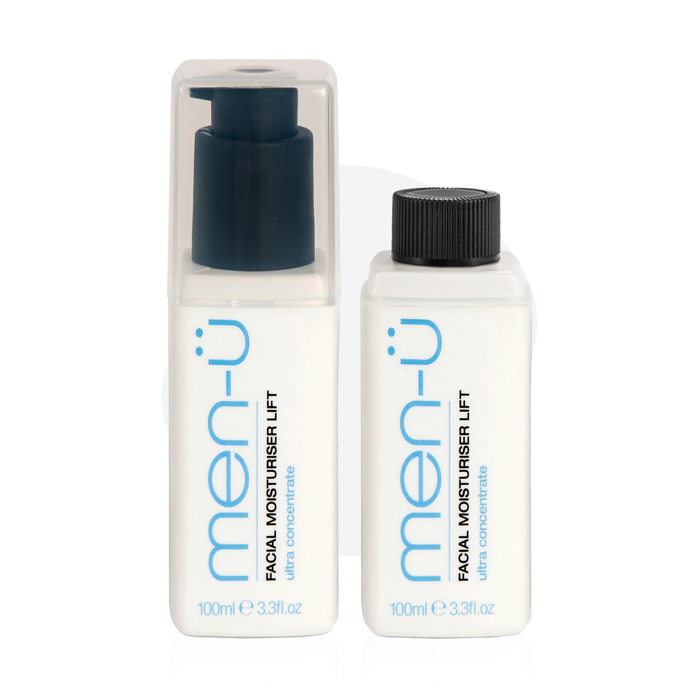 men-u refill kit - Liftingujący balsam po goleniu zestaw 2x100 ml
