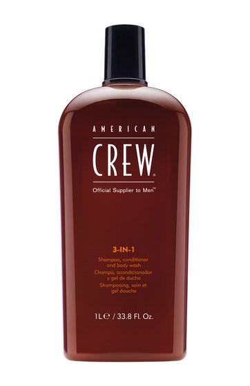 American Crew Classic - 3w1 męski szampon żel pod prysznic i odżywka w jednym 1000 ml