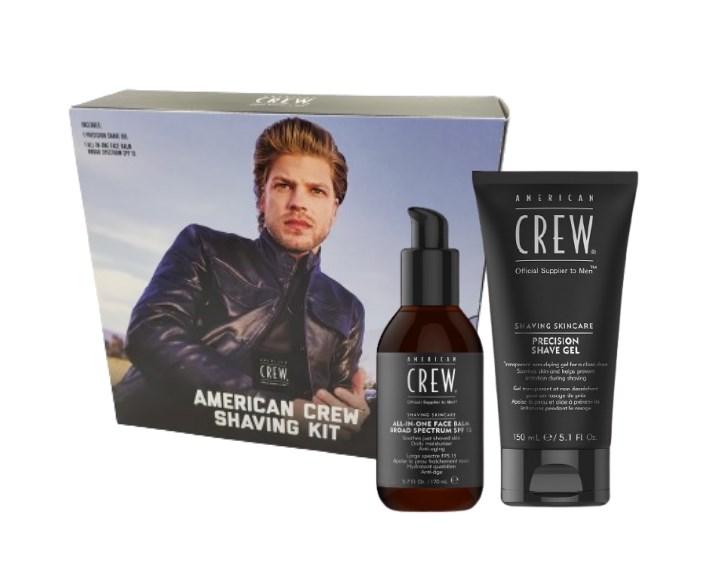 American Crew Zestaw do golenia żel + balsam - shaving kit