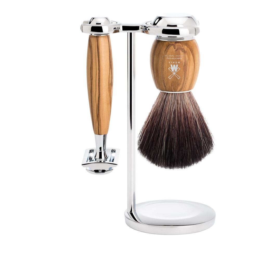 Muhle Ekskluzywny męski zestaw do golenia VIVO - drzewo oliwkowe (S181H330 SR)