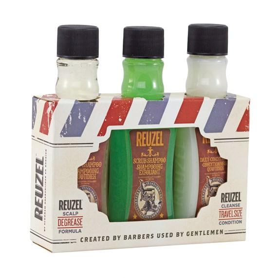 Reuzel Zestaw degreaser 2 szampony i odżywka 3x100ml