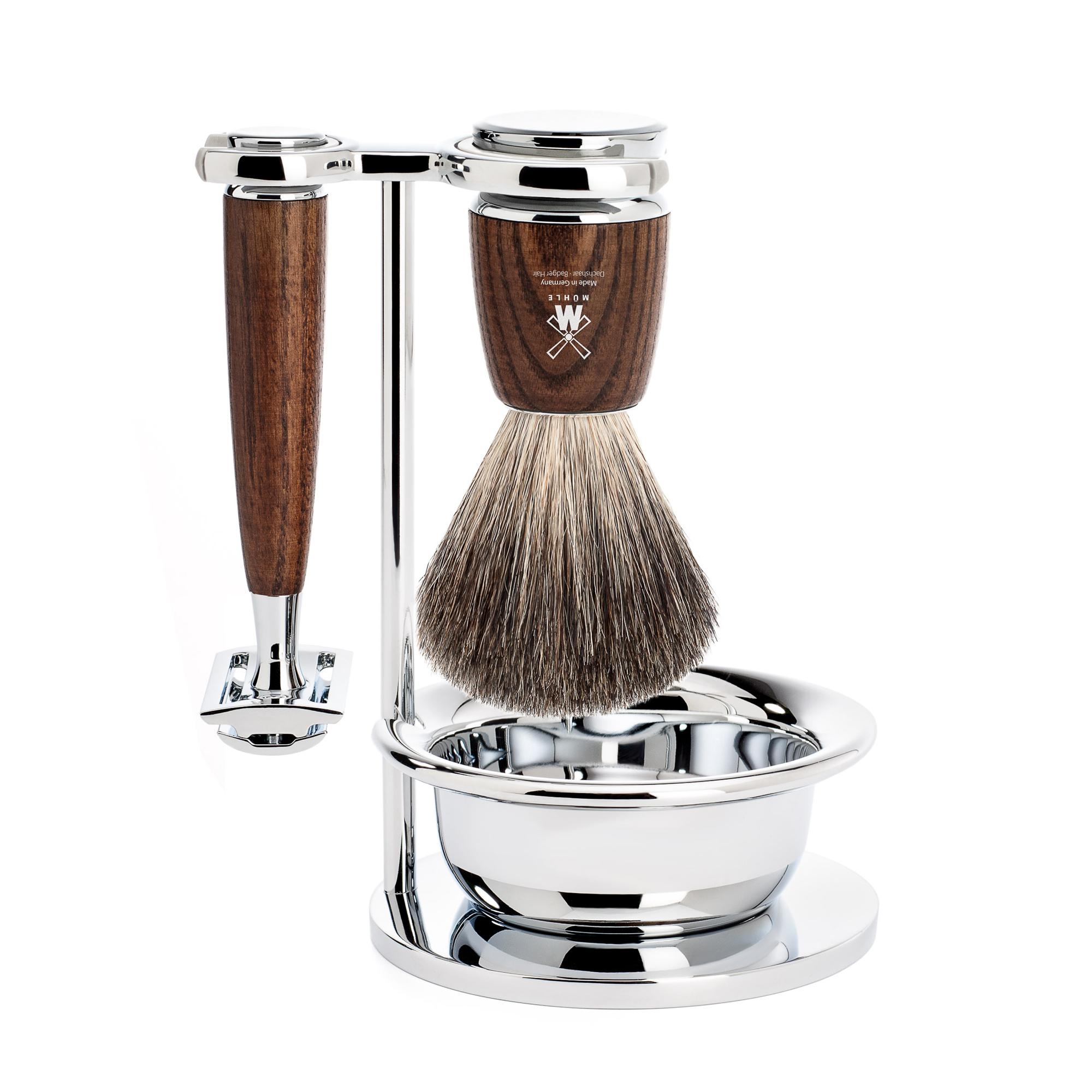 Muhle Rytmo Jesion - Zestaw do golenia z maszynką na żyletki (S81H220SSR)