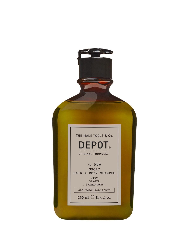Depot 606 Odświeżający szampon do włosów oraz ciała - zapach mięty, imbiru oraz kardamonu - 250ml