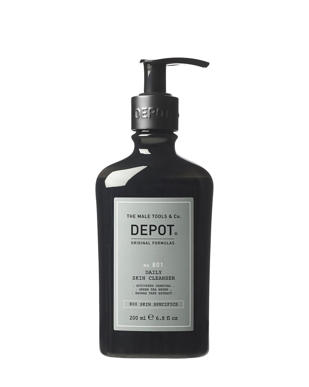 Depot 801 Oczyszczający żel do mycia twarzy z węglem aktywnym o potrójnym działaniu 250ml