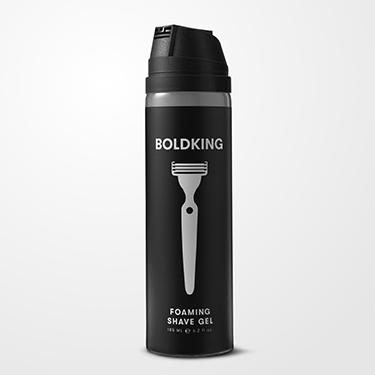 Boldking - Uniwersalny pieniący żel do golenia twarzy, ciała i głowy 185ml