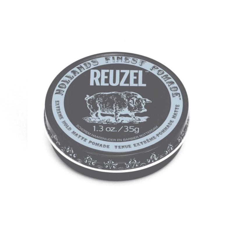 Zestaw do stylizacji włosów - Reuzel Grooming Tonic, Reuzel Extreme Pomade oraz ZEW Roller